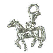Sterling Silver clip on horse charm